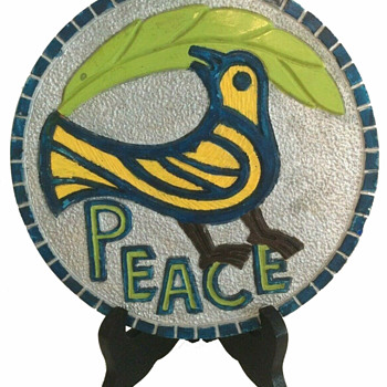 1970 Hippie peace protest folk art by Robert Angeli. - Folk Art