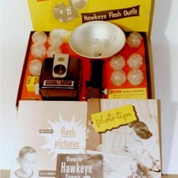 Kodak Brownie Hawkeye type fiesta - Cameras