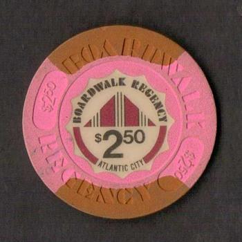 Boardwalk Regency Casino - $2.50 Gaming Chip - Games