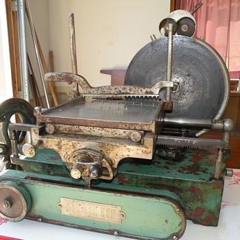 Antique US Slicing Machine Berkel Meat Slicer