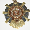 Vintage Diaz Santoyo Mixed Metals Copper Sun Face - Mexico