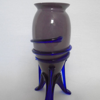 Czech Tango Glass Vase On Strutted Legs - Art Glass