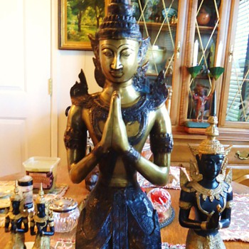 """New large Thai Buddha, 30 inch all four 30+ lbs. AND Local  """"City of 10,000 Buddhist"""""""