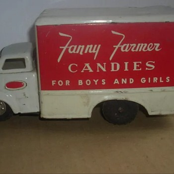1950-60 japan tin truck Fanny Farmer candy!! - Model Cars