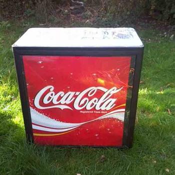 Coca Cola cooler boxes