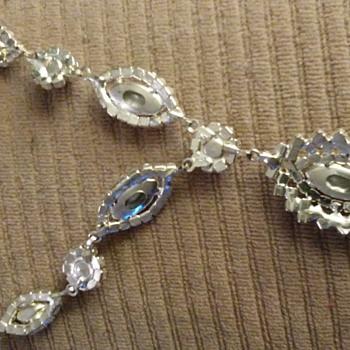 Necklace silvertone ruby? - Fine Jewelry