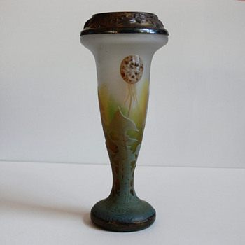 "Daum vase ""from hubbie's collection"" - Art Glass"