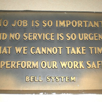 Bell System and General System Safety Creed