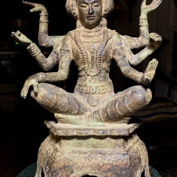 Shiva made of iron or copper or bronze??? - Asian