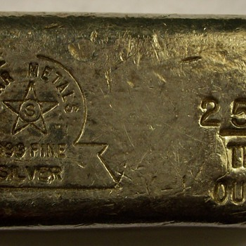 "Silver Bar from ""Star Metals"" 25.42 ounces 999 fine Silver - Gold"