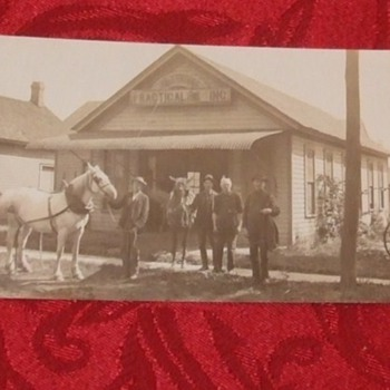 Picture sign for Horse Shoeing c. 1910 - Postcards