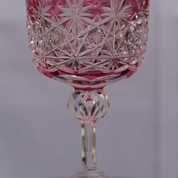 RARE CRANBERRY TO CLEAR RUSSIAN WINE - Glassware
