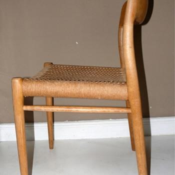 danish modern n.o. moller moeller chairs