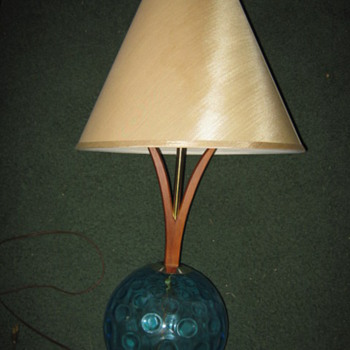 Danish-Modern style sculptural table lamps
