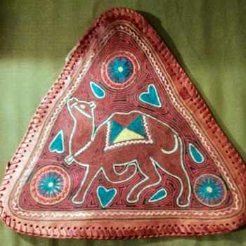 EMBROIDERED LEATHER COVER - Folk Art