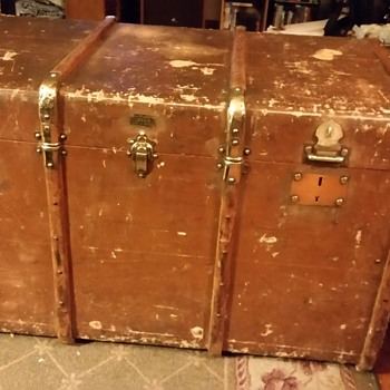 Antique mystery trunk anyone know anything about it? - Furniture