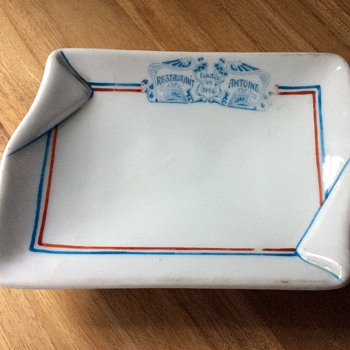 Three Crown China, Germany -- Calling Card Dish -- Restaurant Antoine, New Orleans