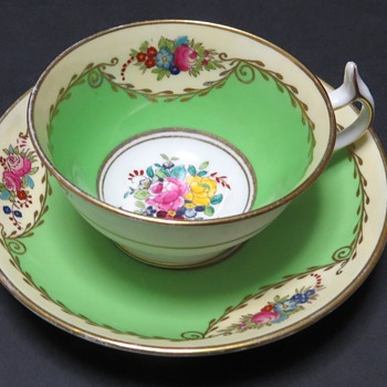 Antique Cup and Saucer - marked T. Goode & Co  - China and Dinnerware
