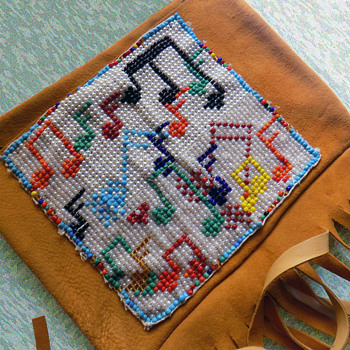 """The """"ALMOST Woodstock Beaded Leather Satchel"""" - Bags"""