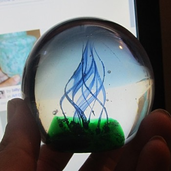 2006 signed art glass paper weight  - Art Glass
