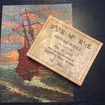 Solve Me Rite Picture Puzzle (Liggett's Drug Stores): Old Iron Sides  - Games