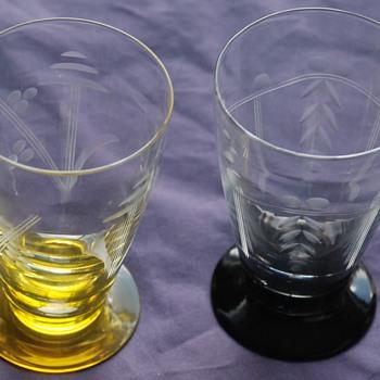 Thomas Webb Coronation tumblers. - Art Glass