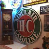 Sinclair Double Sided Porcelain Sign with mounting ring