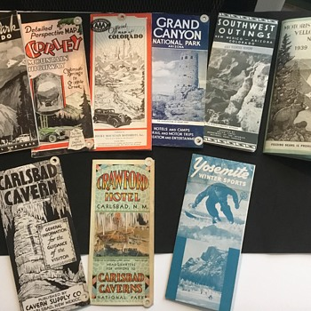 Yellowstone and other National Park Brochures  - Paper
