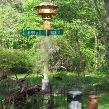 Bird House /Street Signs/Antique Farm Impliment  - Signs