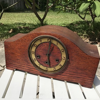 German oak mantle clock restoration - Clocks