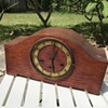 German oak mantle clock restoration