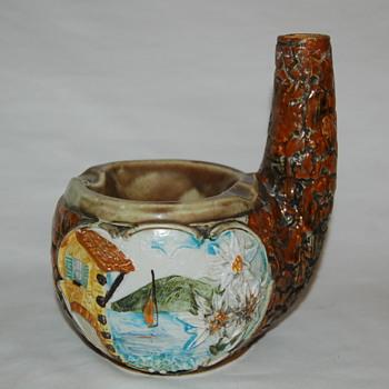 Majolica Ashtray? - Pottery