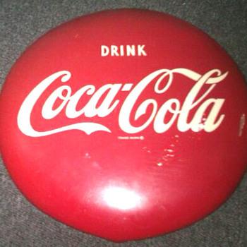 """16"""" Coca-Cola Red Button Sign - Coca-Cola"""
