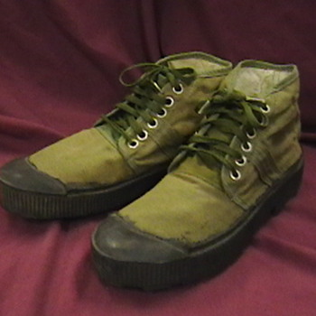 NVA Issue Canvas Boots - Military and Wartime