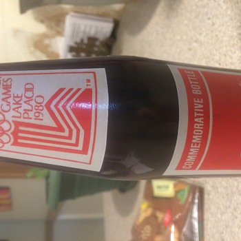 1980 coke bottle from Winter Olympics not opened from Lake Placid
