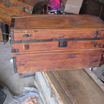 Two what I believe to be Barrell Stave Trunks - Furniture