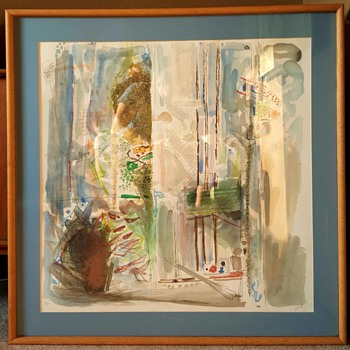 """Flowers by the Window"" Lithograph Print by Yehezkel Streichman - Fine Art"