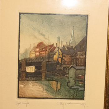 Original Etchings by Hans J. Bachmann???  HELP!! - Fine Art
