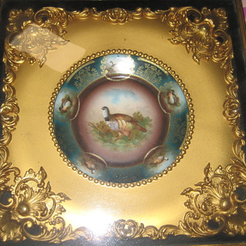 Frame and Plate encased - China and Dinnerware