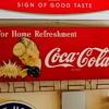 Coca cola bag holder sign  sprite boy 40's and 50's
