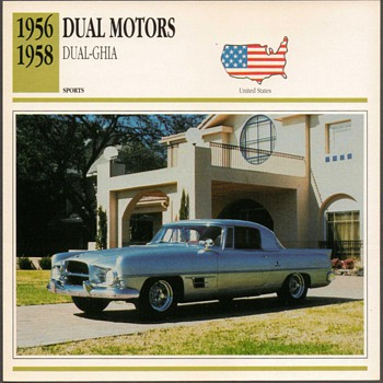 Vintage Car Card - Dual Motors Ghia - Cards