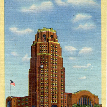 Vintage Buffalo Central Terminal Postcard - Railroadiana