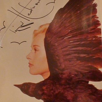 """Tippi Hedron Autographed Photo """"The Birds"""" Hitchcock"""