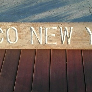 OTCO New York Wooden Plaque  - Signs