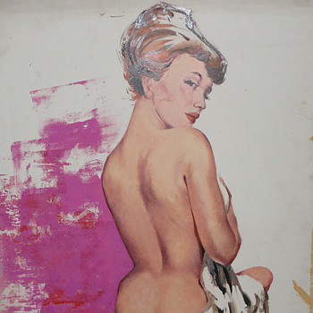 1950s paintings on cardboard - Fine Art