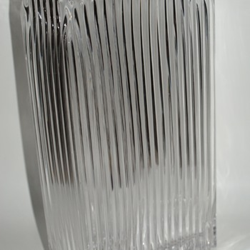 Massive Mid-Century Modern (I Think) Ribbed Glass Vase - Glassware