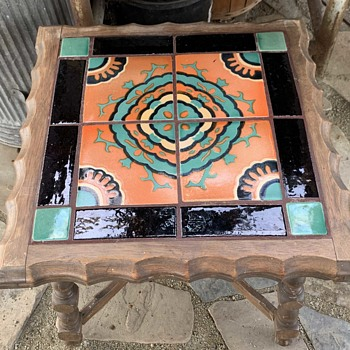 Extremely Heavy California Tile-top Table - Pottery