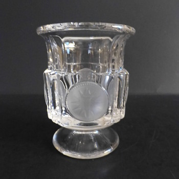 Fostoria coin glass toothpick holder - Glassware