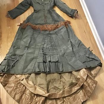 Antique Bustle dress - Womens Clothing