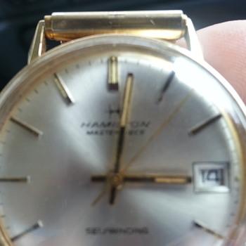 Hamilton 9703 1982 14k gold mens watch